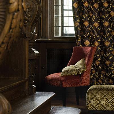 Fabrics by sahco insignia brown the interior library for Insignia interior design decoration