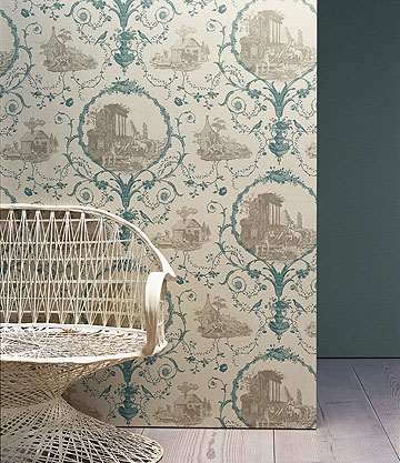 Wallpapers By Zoffany Au Pied Des Ruines The Interior